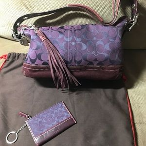 Coach Signature and Leather/Suede Handbag